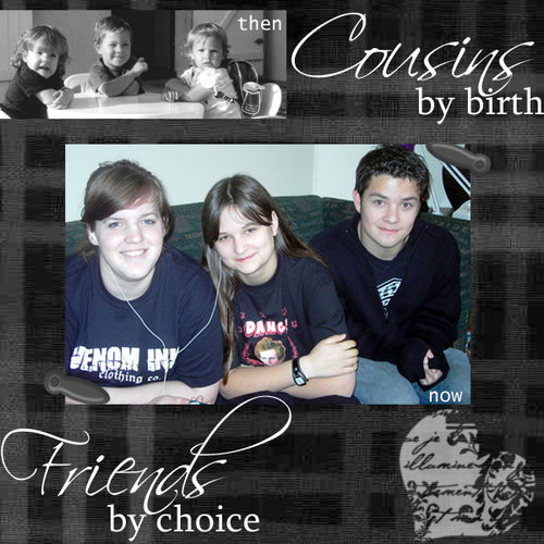 Cousins then and now