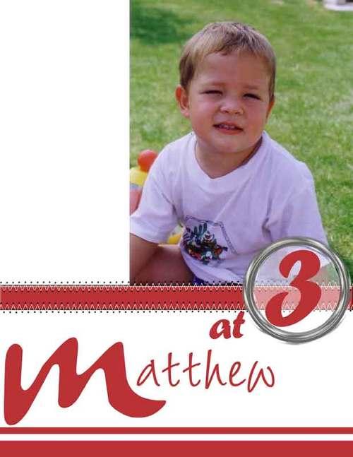 Matthew at 3